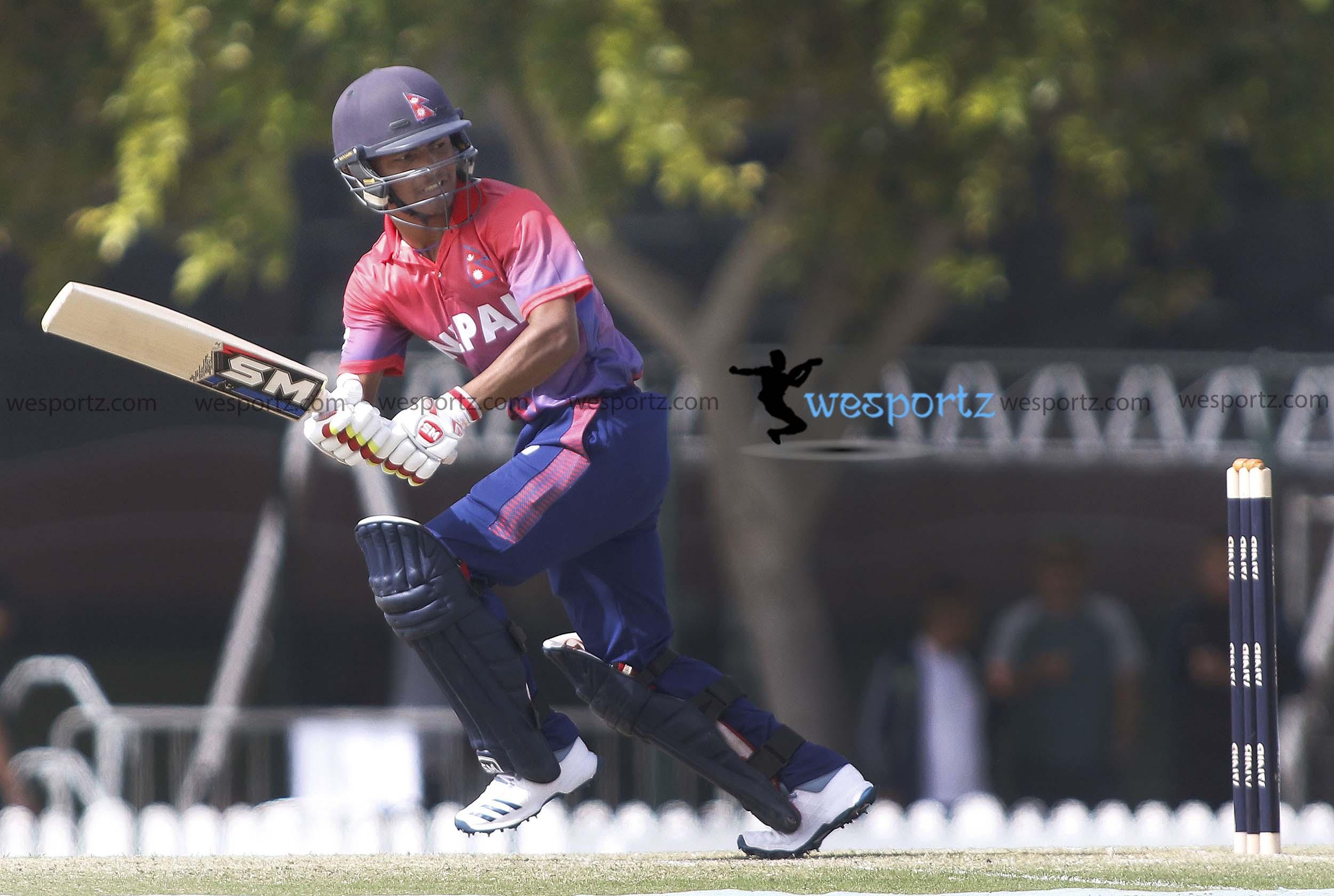 Rohit Kumar Paudel batting, Rohit in action