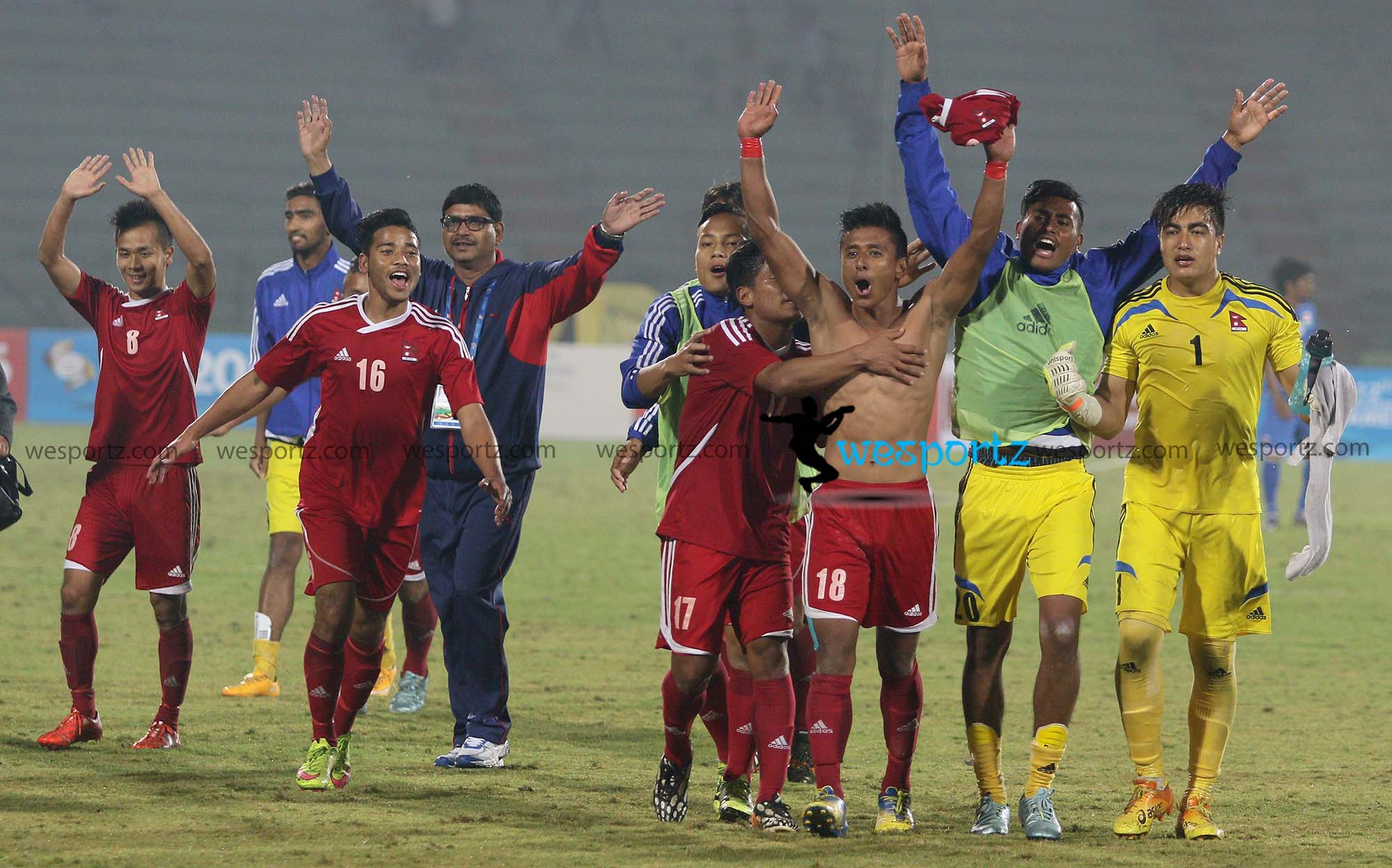 Nepali football team, 12th SAG football gold medal winner team,