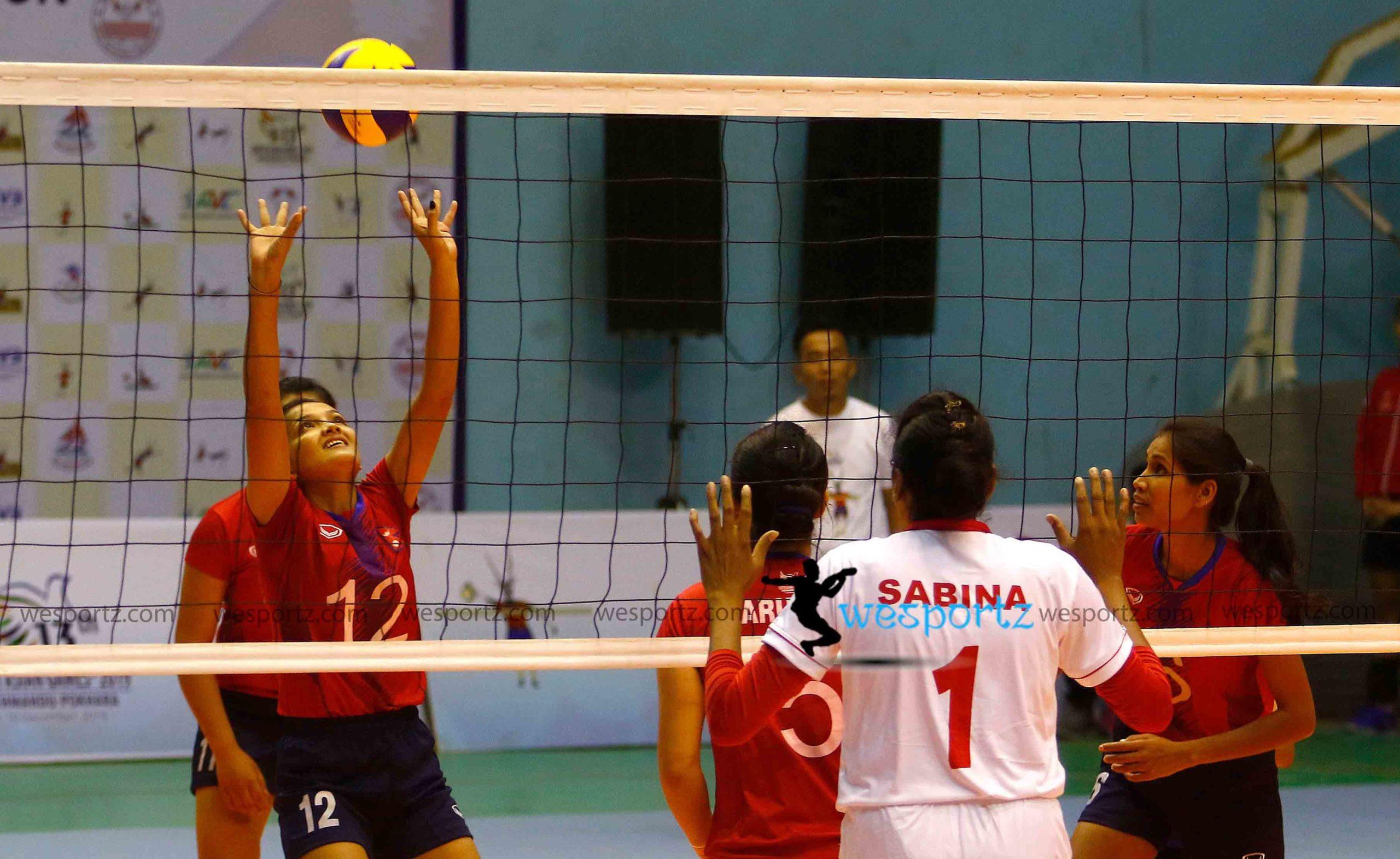 pratibha mali, prateebha mali, nepal women volleyball, nepal vs Bangladesh women volleyball,